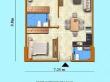 Chung cư Sơn Thịnh 3, căn hộ 2PN, 71 m2, ban công đón gió biển vào nhà. LH 0907-370-843