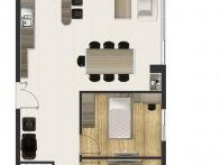 Căn hộ ở ngay Conic Riverside, lầu 8 , 62m2, 2PN, 1WC, nhà trống, 1.15 tỷ bao sang tên