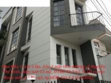 Bán Nhà góc 2 mặt tiền 1 trệt 3 tầng thiết kế đẹp