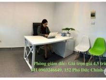 Cho thuê văn phòng trọn gói Ba Đình, 152 Phó Đức Chính-Cửa Bắc, giá 10 triêu/8 người