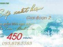 Đất nền mặt tiền biển hot nhất Hồ Tràm - Bình Châu Seaway Bình Châu chỉ 450 triệu/nền.