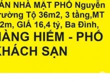 BÁN NHÀ MẶT PHỐ Nguyễn Trường Tộ 36m2, 3 tầng,MT 3,2m, GIÁ 16,4 tỷ, Ba Đình,