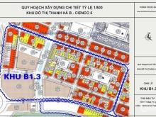 Tôi chính chủ cần bán lô đất biệt thự dự án Thanh Hà Cienco 5 Hà Đông, khu đô Thị Thanh Hà Mường Thanh. Giá 18,5tr/m2 LH chị Hương 0912255123
