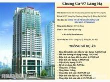 Cần bán gấp căn hộ 3 phòng ngủ chung cư Petrowaco 97-99 Láng Hạ, view Láng Hạ - Hồ Thành Công