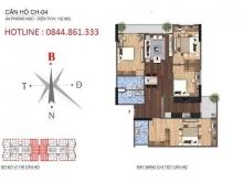 Chính chủ gửi bán căn hộ 4 PN 132m2  tại tòa N01-T1 KDT Ngoại Giao Đoàn