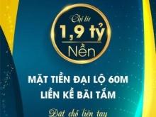 GRAND F NEW CENTER - ĐẤT NỀN VEN BIỂN ĐÀ NẴNG TRỤC CHÍNH 60M- MỞ BÁN GĐ I – THANH TOÁN 1,9 TỶ