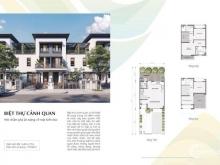 Bán nhà phố góc Swan Park, diện tích 146m2 - 1 trệt, 2 lầu, liên hệ: 0909350622
