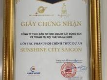 Siêu dự án Sunshine City Saigon, TT 25% ký HĐMB sở hữu ngay căn hộ nội thất dát vàng