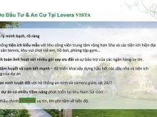 Lovera Vista căn hộ hiện hữu tiện ích xung quanh cao cấp Khang Điền chỉ từ 1,3ty
