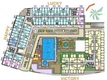căn hộ 64m2, 2pn 2wc mặt tiền đường Đồng Văn Cống,q2