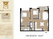 Bán căn 2 phòng ngủ, hướng Đông, Tây Hồ Residence, giá 2,9 tỷ, diện tích 70.5m2