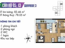 [ 4 sao ] Căn hộ 02 phòng ngủ tầng cao toà S3 chung cư Goldmark City