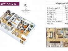 Chính chủ giao bán gấp căn 2 ngủ 82,6 m2 Chung cư 6th Element Tây Hồ Tây