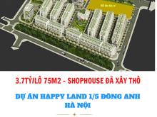 BẢNG GIÁ ĐỢT 2 DỰ ÁN HAPPY LAND 1/5 THỊ TRẤN ĐÔNG ANH