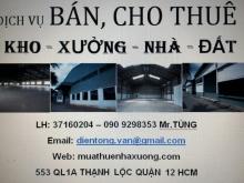 Cho thuê nhà xưởng 600m2, 1100m2 An Phú Đông Quận 12