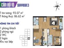 Bán căn 2 phòng ngủ mệnh danh là căn vua của goldmark City giá chỉ 2,620 tỷ