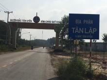 đất dự án nằm ngay cổng chào huyện bắc tân uyên liền kề kcn  vsip 3