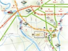 Đất nền Mặt tiền QL 50 Lotus new city Cần Đước Long An