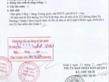 Bán nhà 1 trệt 2 lầu mặt tiền Võ Văn Kiệt Quận 5 4x18