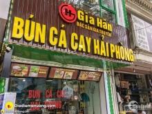 Cho thuê nhà làm hàng ăn mặt phố Vương Thừa Vũ: 50m2, mặt tiền 9m.