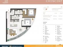 Bán căn hộ 2 phòng ngủ, 2 wc, 105m2, balcony ĐN tại City Garden.