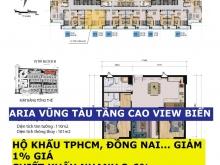 Aria Vũng Tàu Căn 2PN 91m2-138m2, View Biển, Giá 36 Tr/m2, Vay 70%, Giảm 3-6%