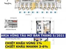 Aria Vũng Tàu Căn 2PN 91m2-138m2, View Biển, Giá 36 Tr/m2, Vay 70%, Full Nội Thấ